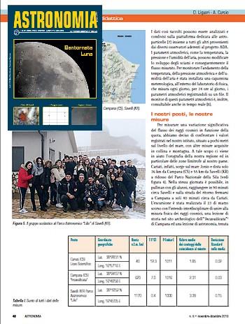 misure di raggi cosmici al mare e in montagna